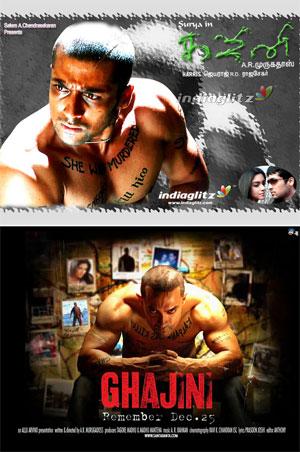 Ghajini-posters