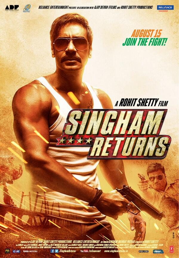 Singham returns first look posters and trailer falling in love singham returns firs look poster 03 thecheapjerseys Image collections