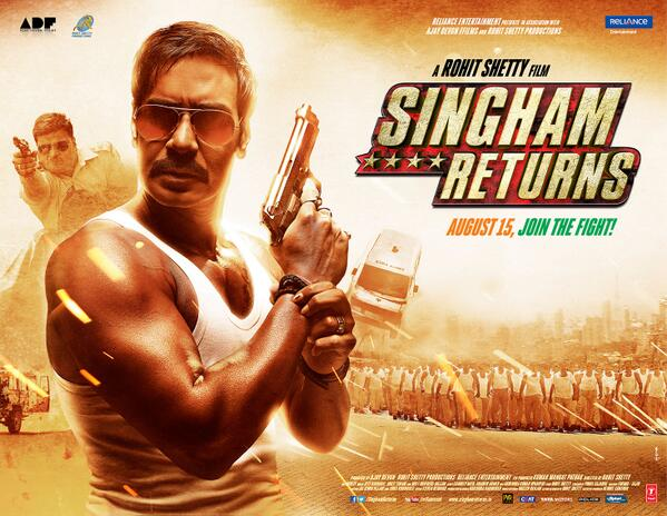Singham returns first look posters and trailer falling in love singham returns firs look poster 06 thecheapjerseys Image collections
