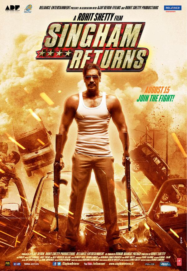 Singham returns first look posters and trailer falling in love singham returns firs look poster 04 thecheapjerseys Image collections