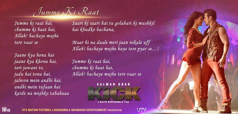 Kick-JummeKiRaat-Lyrics