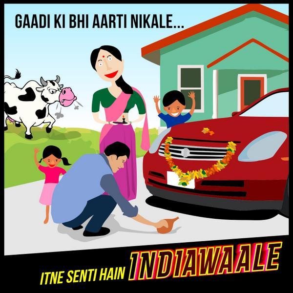 GaadiKiBhiAartiNikale-ItneSentiHain-IndiaWaale