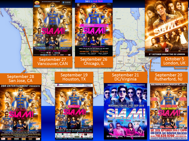 Shah rukh khan comes to usa canada and uk slamthetour falling in