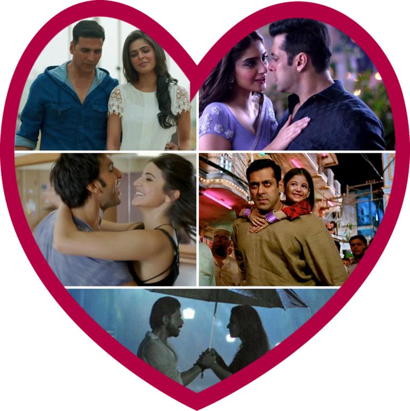 ValentinesDay-BollywoodSongs-AkshayKumar-SalmanKhan-SonamKapoor-RanveerSingh-AnushkaSharma-ShahRukhKhan-Kajol