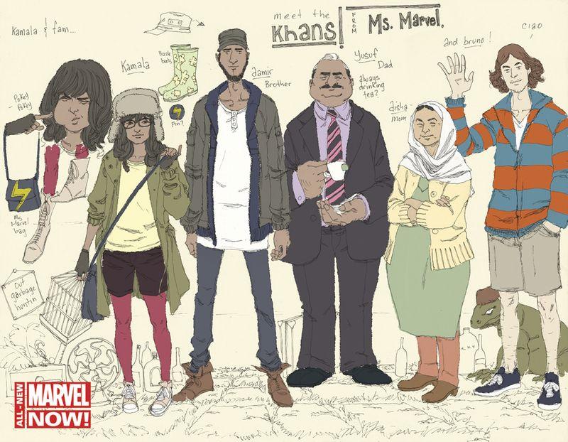 Marvel-KamalaKhan-MsMarvel-CharacterSketches-AdrianAlphona